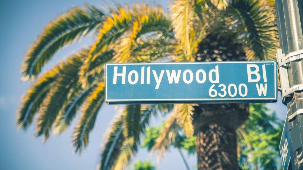 hollywood  Blv street sign
