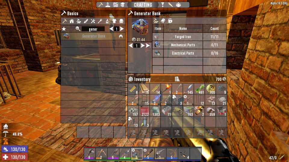 7 Days To Die: How To Make A Generator Bank As An Electric Source