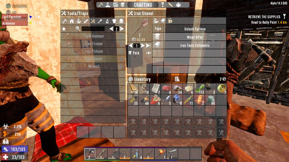 7 Days To Die: How To Make An Iron Shovel