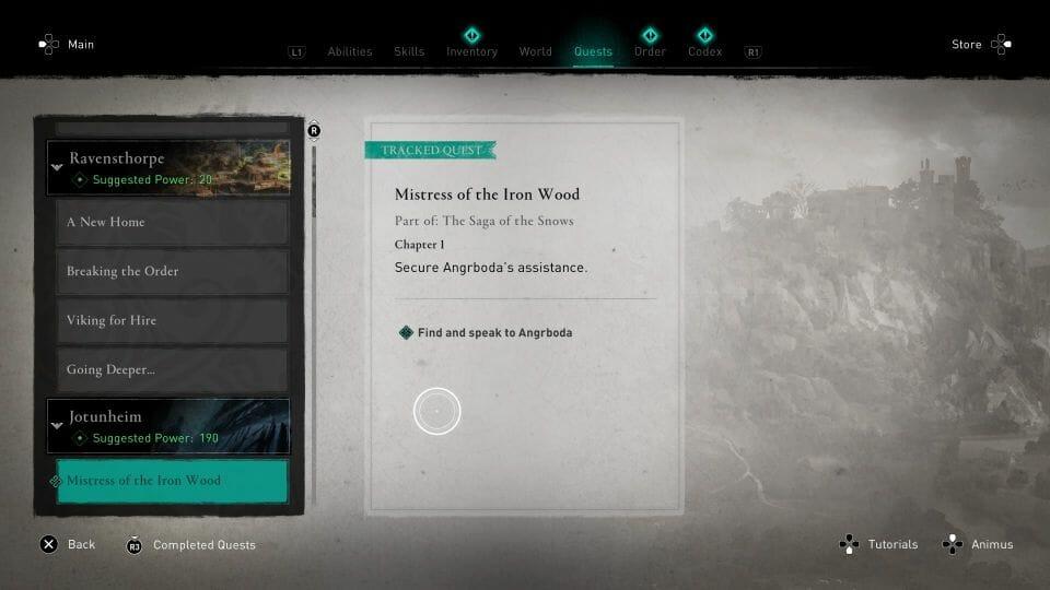 AC Valhalla: Mistress Of The Iron Wood Walkthrough