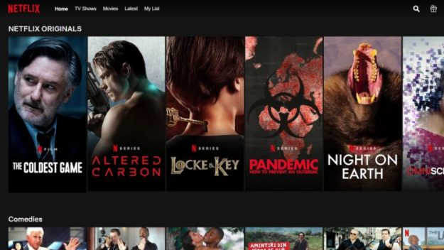 Netflix library in another country