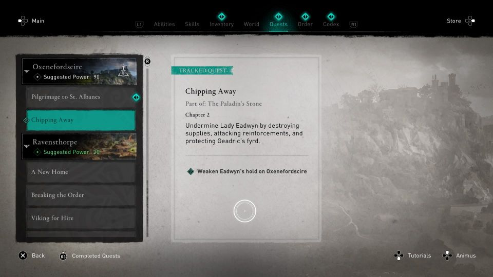 Assassin's Creed Valhalla: Chipping Away Walkthrough