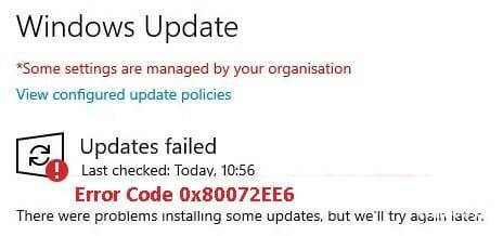 How to Troubleshoot WSUS Error Code 0x80072EE6