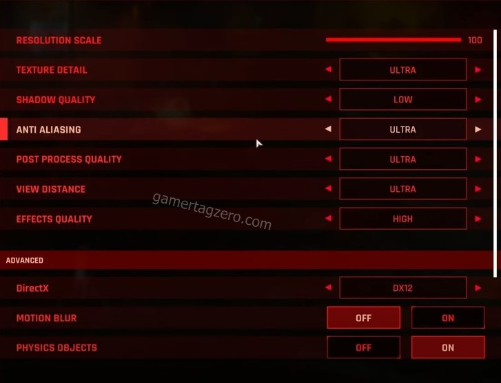 The Ascent Best settings gamertagzero 1