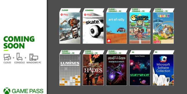 Xbox Game Pass Games for August 2021 Lineup